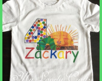 Hungry Caterpillar Birthday Shirt