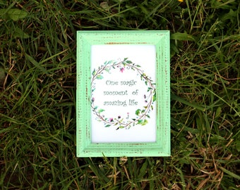 Mint Frame - Wedding Frames, Shabby Chic Rustic Picture Frames