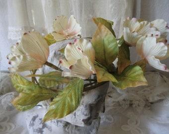 Vintage flower Wreath Boudoir Bohemian French shabby chic