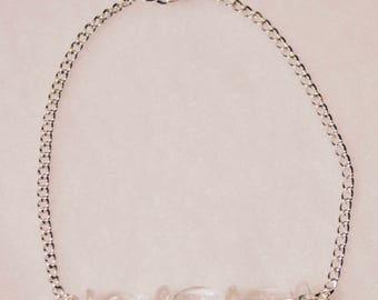 Clear Glass Minimalist Bracelet