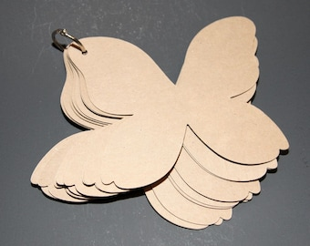 Mini Butterfly Chipboard Album With 8 Pages
