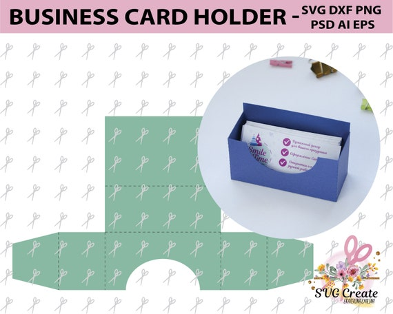 Business card holder template stand paper organiser box pattern business card holder template stand paper organiser box pattern paper cut papercutting svg box cut your own from svgcreate on etsy studio reheart Gallery