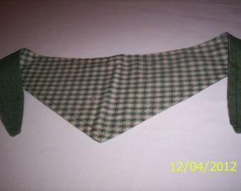 Dog Bandana Tie-on -Dog scarf Reversible-ex-small