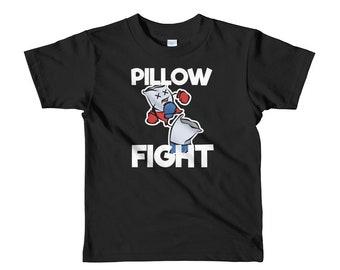 Pillow Fight Slumber Party Favor Shirt | Sleepover Tee | Short sleeve kids t-shirt