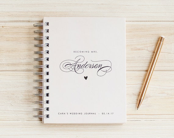 Wedding Planner Book Miss to Mrs Wedding Journal Book Engagement Journal personalized Wedding planning book Wedding gift wedding binder book