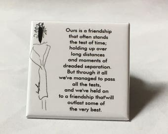 Square Friendship Poetry Magnet