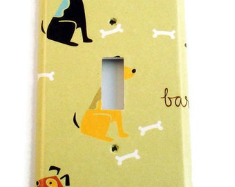 Switch Plate Outlet Light Switch Cover Wall Decor Light Switchplate  in Good Dog (156)