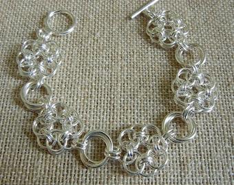 Celtic Helm & Rosette Chainmaille Bracelet