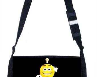 Keep Calm and Study On Black School Shoulder Messenger Bag
