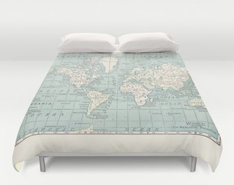 World map duvet cover warm comforter bed bedroom travel mundo mapa duvet cover cama dormitorio viajes decoracin acogedor wanderlust clido gumiabroncs