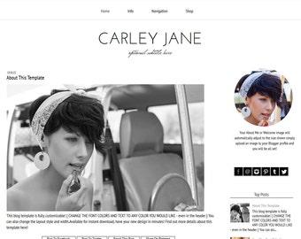 Blogger Template - Black and White Blogger Template - Responsive Blogger Template -  Simple Blogger Template - Modern - Carley