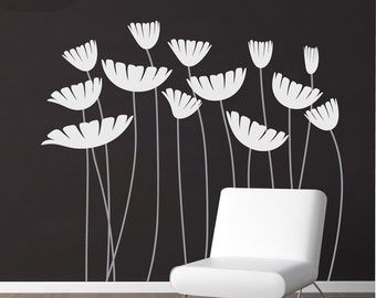 Supersized Flowers - Vinyl Wall Decal