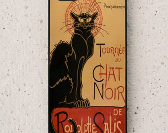Phone Cover -  iPhone,Samsung Galaxy - Chat Noir - Back Cat - Vintage  Print - Cover - Mobile Phone