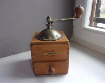 Odax french wooden coffee grinder