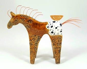 Horse sculpture, horse art, horse, horse pottery, equine sculpture, pottery animals, gift for horse lovers, ceramic horse, horse figurine
