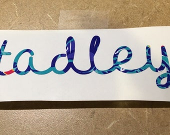 Printed Vinyl Name Decal