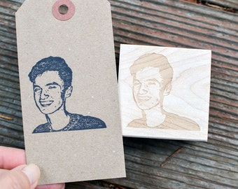 Custom Portrait Rubber Stamp - Face Stamp - Customized Stamp - Custom Stamp - Personalized Stamp - Gift Idea