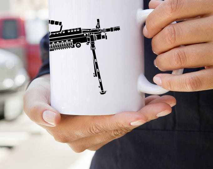 KillerBeeMoto:    M249 LMG Light Machine Gun Coffee Mug