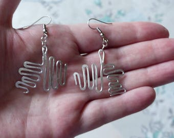 all fine silver and hammered aluminum earrings