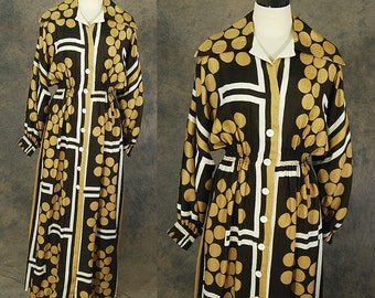 70s Galanos Maxi Dress - 1970s James Galanos Balloon Sleeve Silk Hostess Lounge Dress Sz M