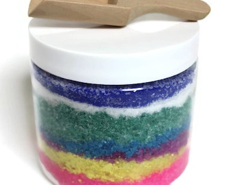 bath salts, bath gifts, bath soak, bath gift set, gift for mom, rainbow, aromatherapy gift, hostess gift, spa gifts, epsom salt bath