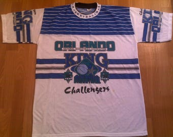 Official NBA Orlando Magic jersey, vintage t-shirt of 90s hip hop clothing, old school 1990s basketball, size XXL, RARE!