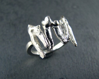 Sterling Silver Tooth Ring
