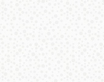 Quilting Illusions- Dots in White- from Quilting Treasures -- 1/2 YD