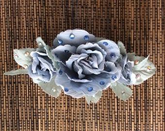 Blue Floral Hair Accesory