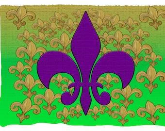 Purple Fleur de lis  throw blanket from my original art.