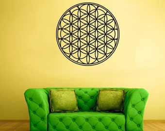 rvz1820 Wall Decal Vinyl Sticker Decals Flower of Life Mandala Bedroom