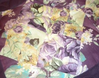 Twin quilt/ A plum of a quilt