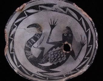 Anasazi - Mimbres Lizard Bowl Replication