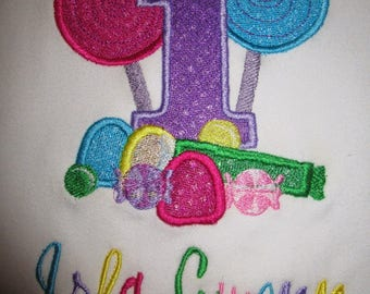 Candy Land 1st Birthday applique Birthday shirt