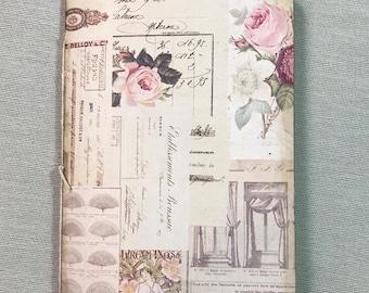 """Handmade journal - Junk Journal  - Traveler's Notebook Insert 8 1/2"""" x 5 1/2"""""""