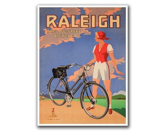 Vintage Bike Poster Art Bicycling Decor Cycling Road Bike Print (H43)