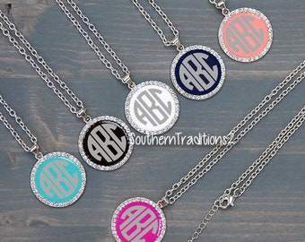 Monogram Necklace - Bridesmaid Necklace - Personalized Necklace for Mom