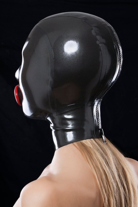 Latex mask with red condom and cutouts for nostrils GxEKRx0o ... aeb0411e08c