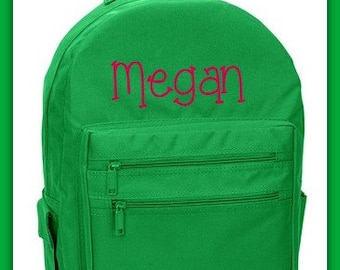 Monogram Backpack - Monogram Bookbag - Solid Boys or Girls Backpack - Uniform matching Book Bag