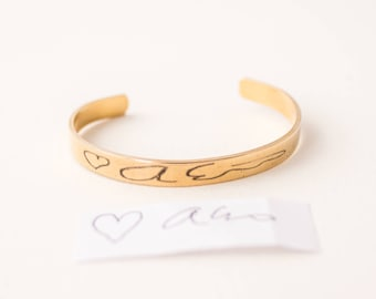 Custom Handwriting Jewelry | Custom Note Bracelet | Handwriting | Signature Jewelry | Best Friend Gift | Remembrance Jewelry | Memorial