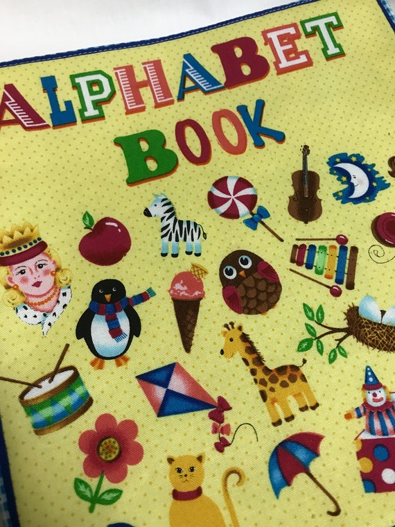 Alphabet Book Fabric Toddler Baby Book Learn the Letters Fabric Book Handmade Soft