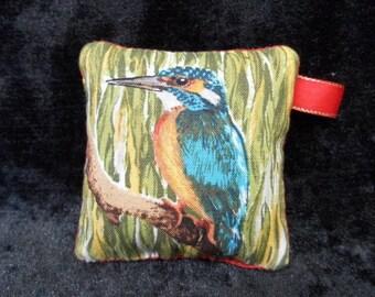 Pin cushion - kingfisher