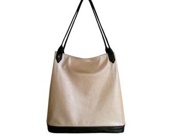 Leather Handbag organiser for Her, City Bag, Italian Leather Purse, iPad Bag, Shoulder Bag, Tote bag