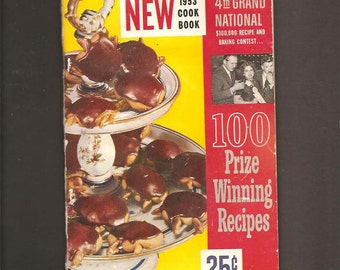 New 1953 Cook Book - Pillsbury 4th Grand National 100 Prize Winning Recipes - Vintage Recipe Booklet c. 1953 - Advertising - Ann Pillsbury