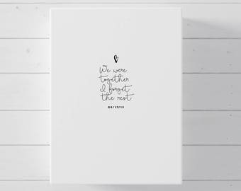 Wedding Guest Book Alternative, Quote Canvas Guest Book for Wedding
