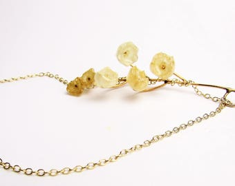 Real Flower Jewellery, Preserved Lily of the Valley Handmade Necklace, Natural & Botanical