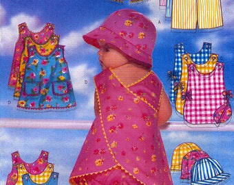 Butterick 5439 Sewing Pattern for Infants' Romper, Jumper, Panties and Hat - Uncut - Size NB, S, M