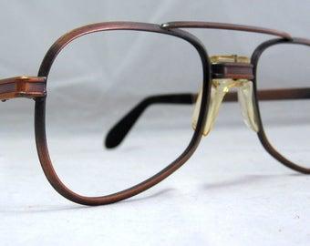 Tart Optical Aviator Sunglass Frames.  Antique Bronze Vintage '70s