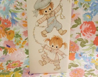 Vintage photo album Buttons & Bo by Beatrice button 1974 Hallmark cards INC flip photo 10×5 inches