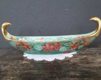 Limoges Console Dish With Eagle Head Handles